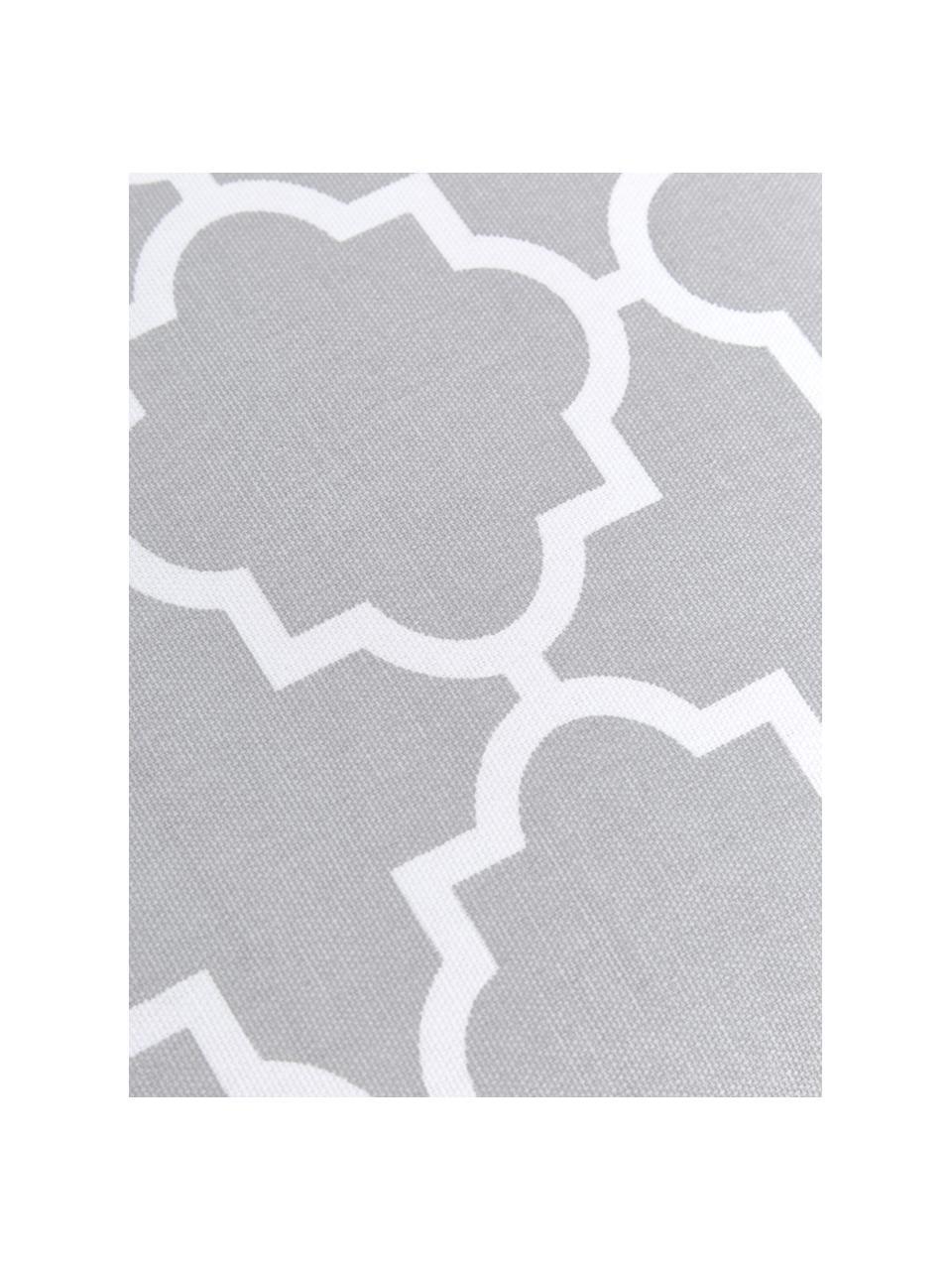 Hohes Sitzkissen Lana in Hellgrau/Weiß, Bezug: 100% Baumwolle, Grau, 40 x 40 cm