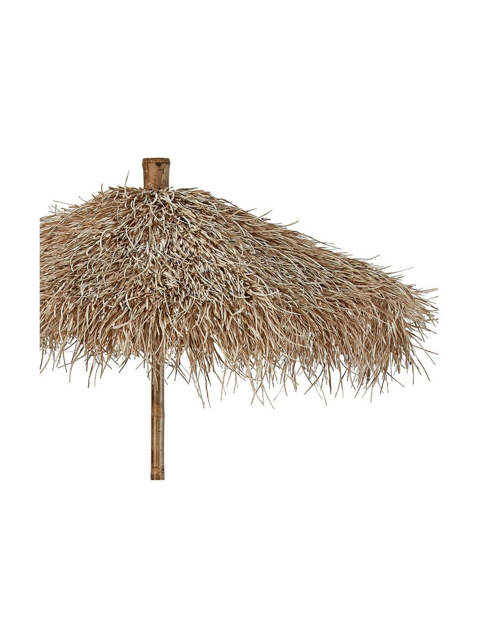 Naturfarbener Bambus-Dekoschirm Mandisa, Ø 150 cm, Bambus, naturbelassen, Bambus, Ø 150 x H 240 cm
