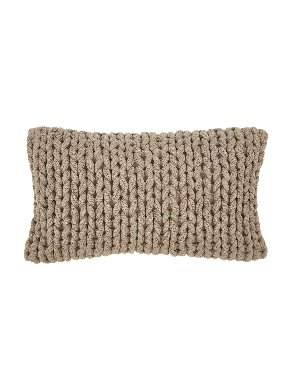 Housse de coussin grosse maille Adyna, Beige