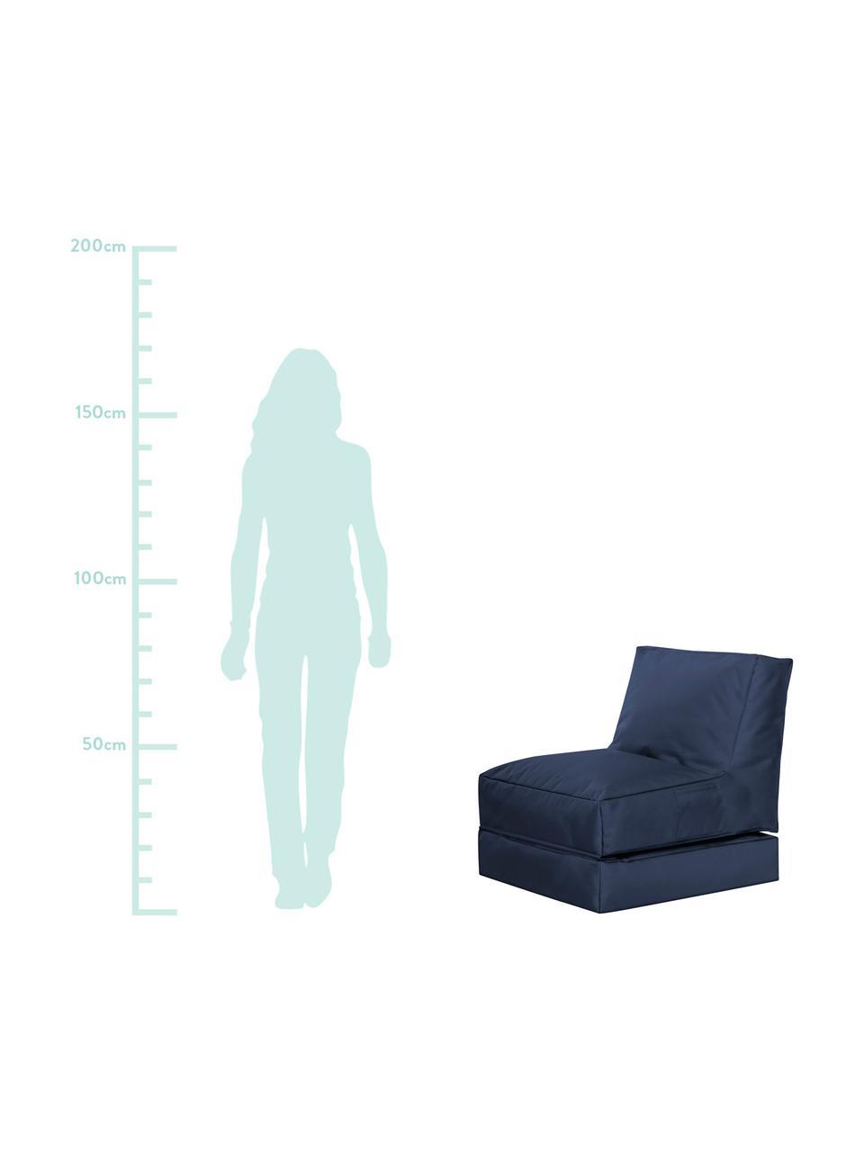 Poltrona letto da giardino Pop Up, Rivestimento: 100% poliestere All'inter, Blue jeans, Larg. 70 x Prof. 90 cm