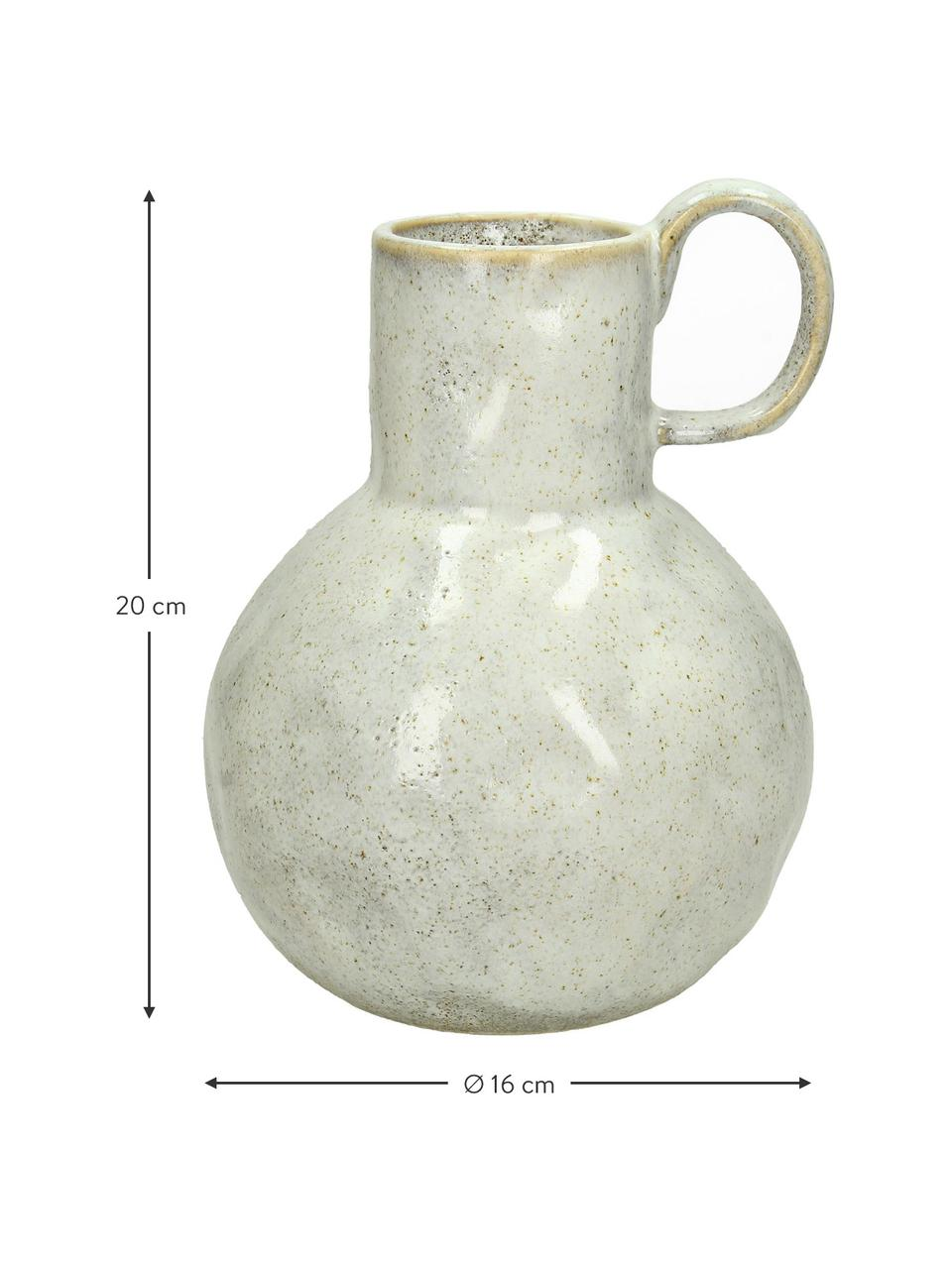 Wazon Ammolite, Kamionka, Beżowy, Ø  16 x W 20 cm