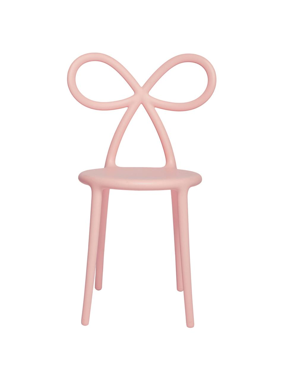 Sedia color rosa Ribbon, Plastica (polipropilene), Rosa, Larg. 53 x Prof. 52 cm