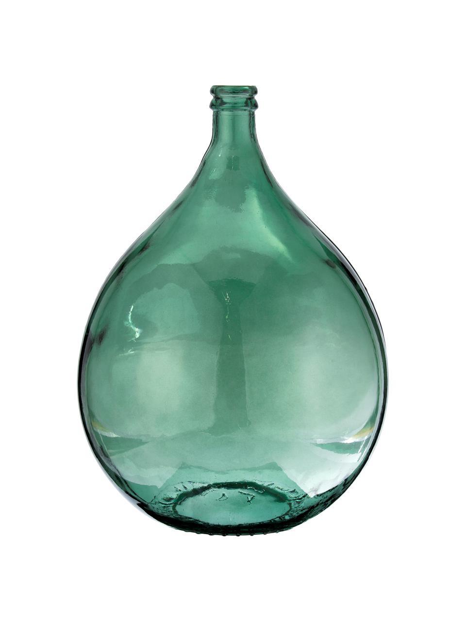 Vase dame-Jeanne en verre recyclé Drop, Vert