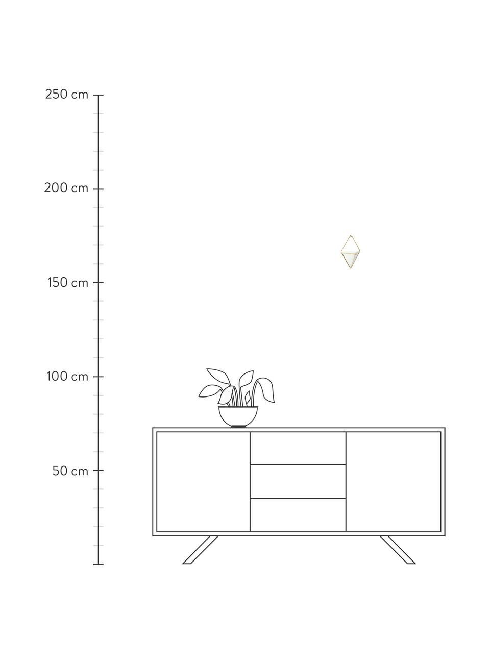 Wandaufbewahrungs-Schale Trigg aus Keramik, 2 Stück, Aufbewahrung: Keramik, Weiß, Messing, matt, 11 x 18 cm