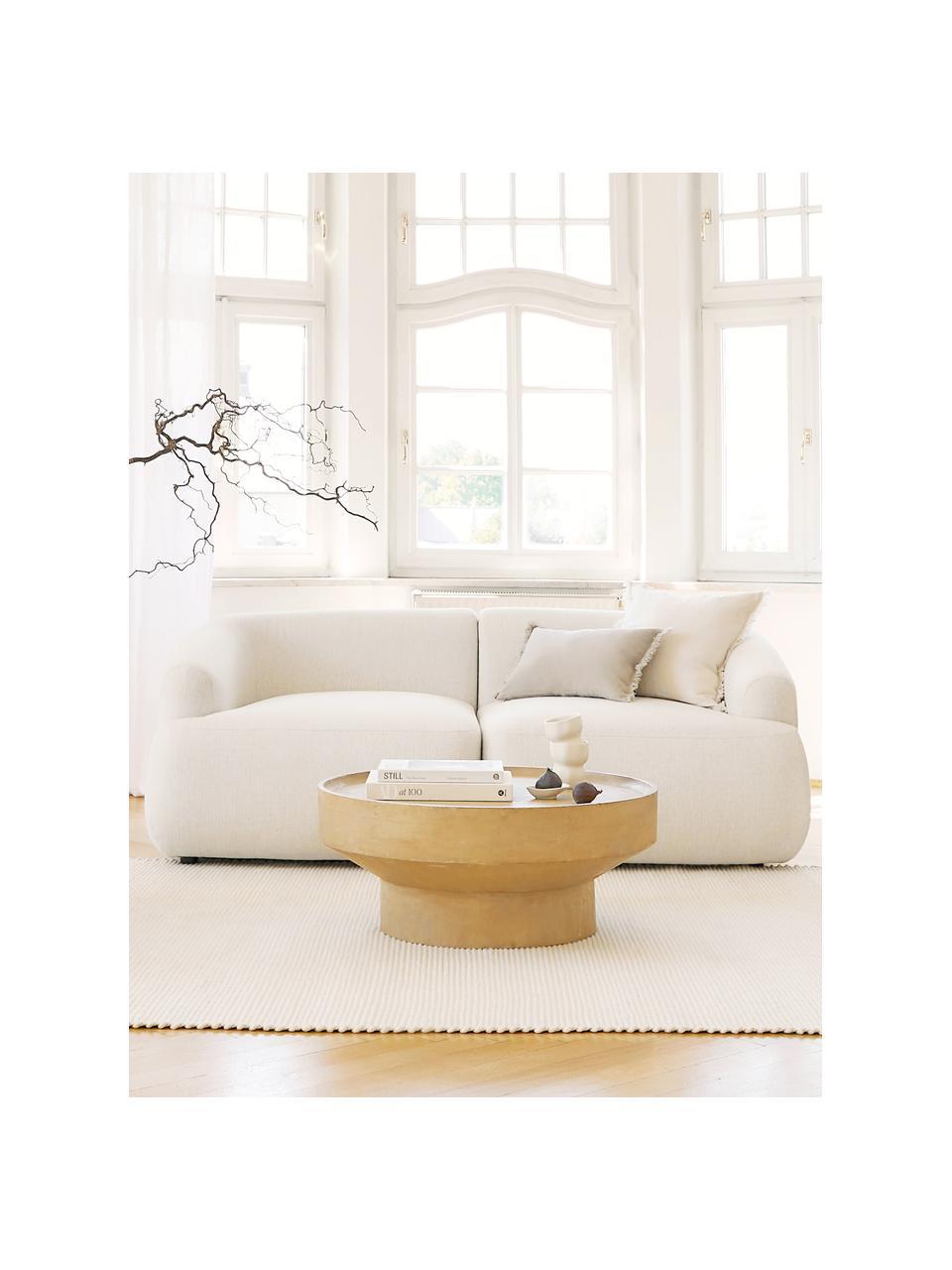 Modulares Sofa Sofia (2-Sitzer) in Beige, Bezug: 100% Polypropylen Der hoc, Gestell: Massives Kiefernholz, Spa, Füße: Kunststoff, Webstoff Beige, B 192 x T 95 cm