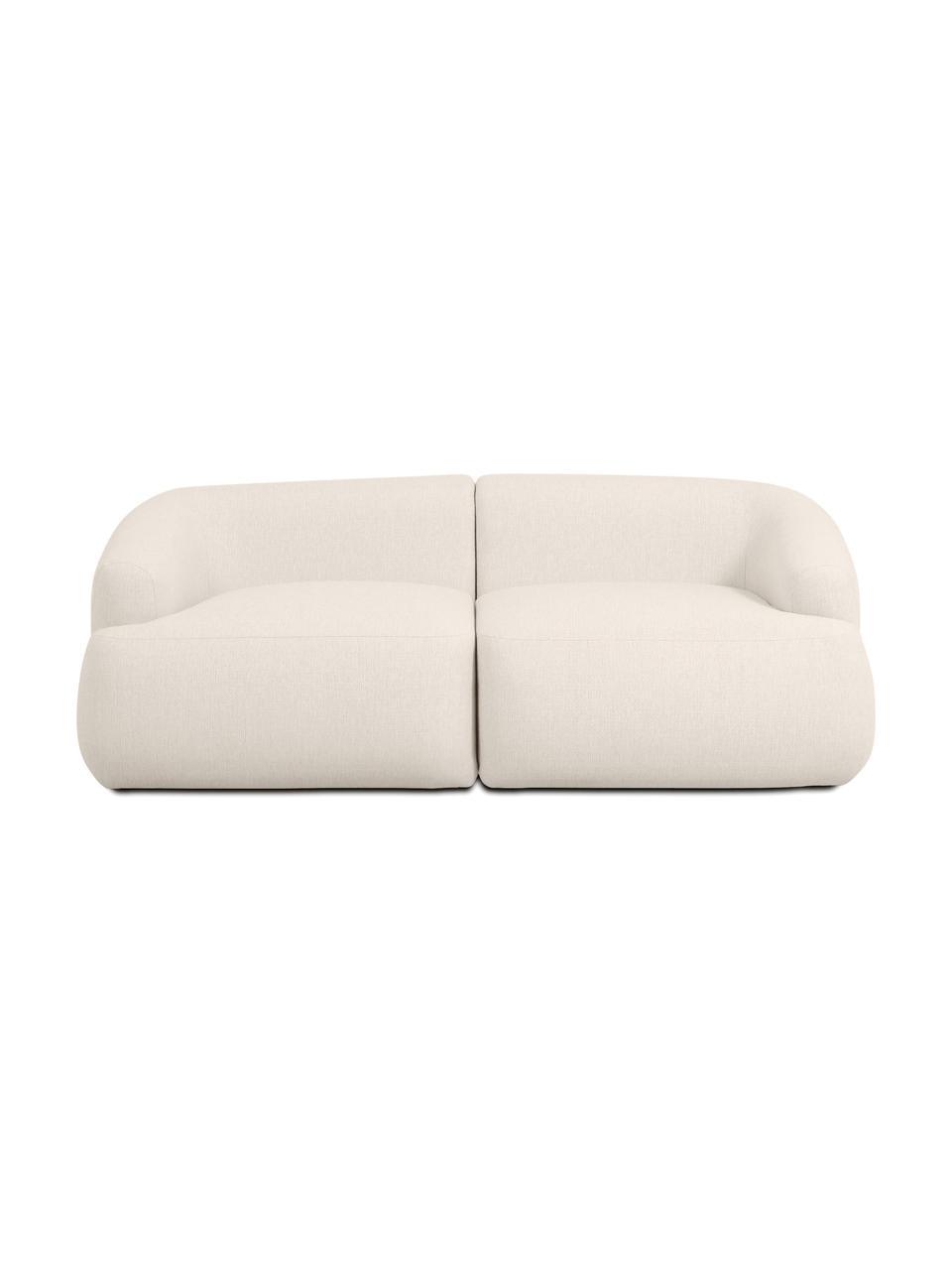 Sofa modułowa Sofia (2-osobowa), Tapicerka: 100% polipropylen Dzięki , Stelaż: lite drewno sosnowe, płyt, Nogi: tworzywo sztuczne, Beżowy, S 192 x G 95 cm