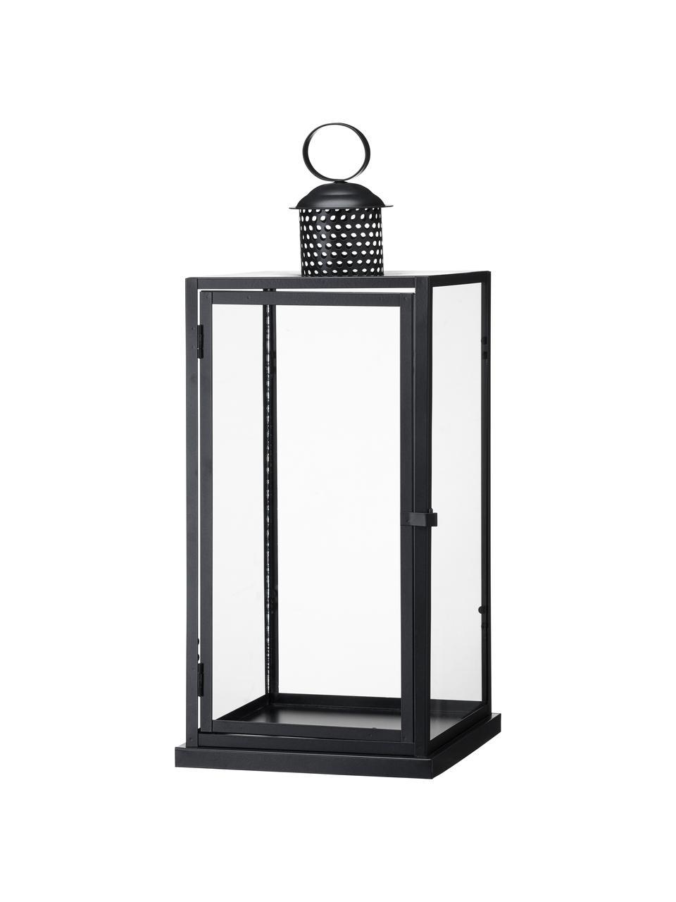 Komplet latarenek Galea, 2 elem., Stelaż: metal powlekany, Czarny, Komplet z różnymi rozmiarami