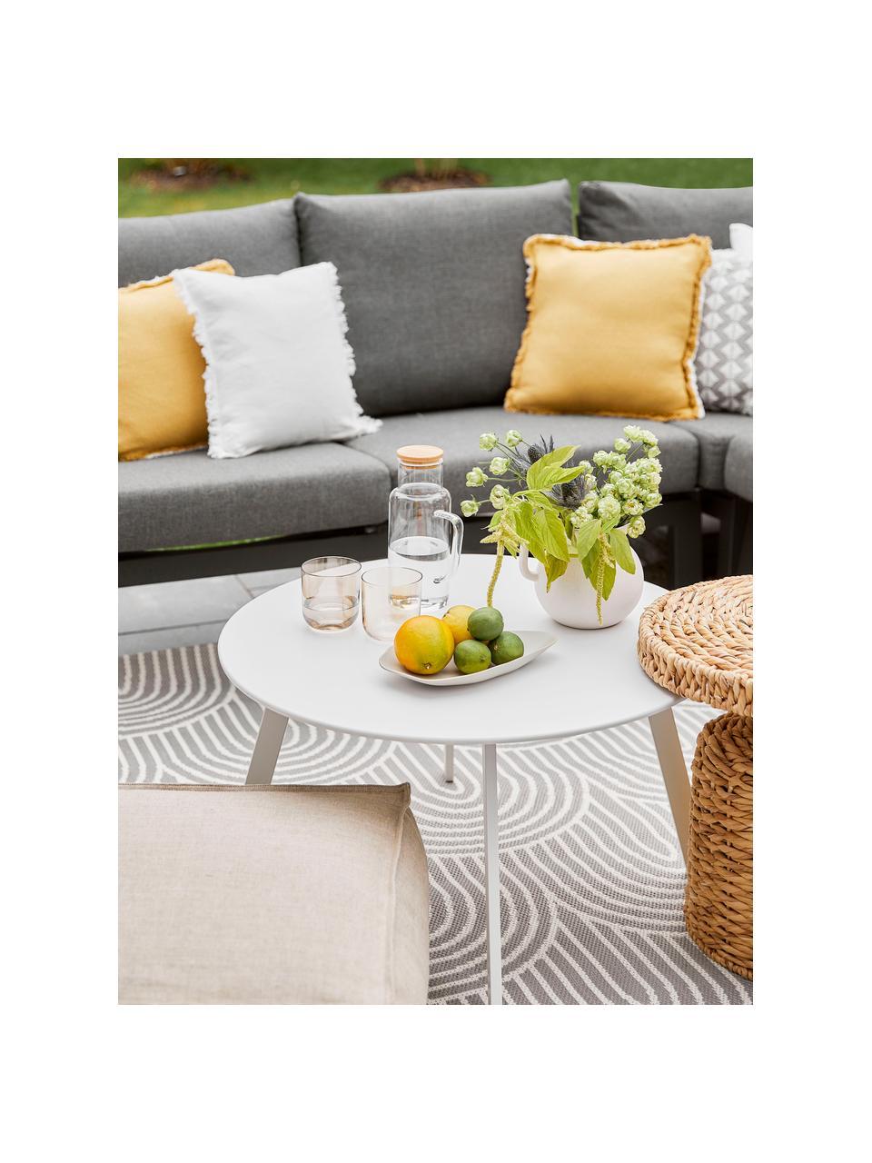 In- & Outdoorteppich Arches in Grau/Weiß, 86% Polypropylen, 14% Polyester, Grau, Weiß, B 200 x L 290 cm (Größe L)