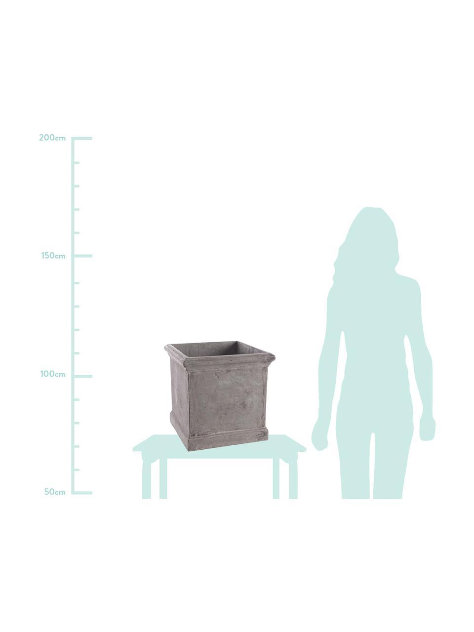 XL Pflanztopf-Set Uara, 2-ltg., Kunststoff, Grau, Set mit verschiedenen Größen