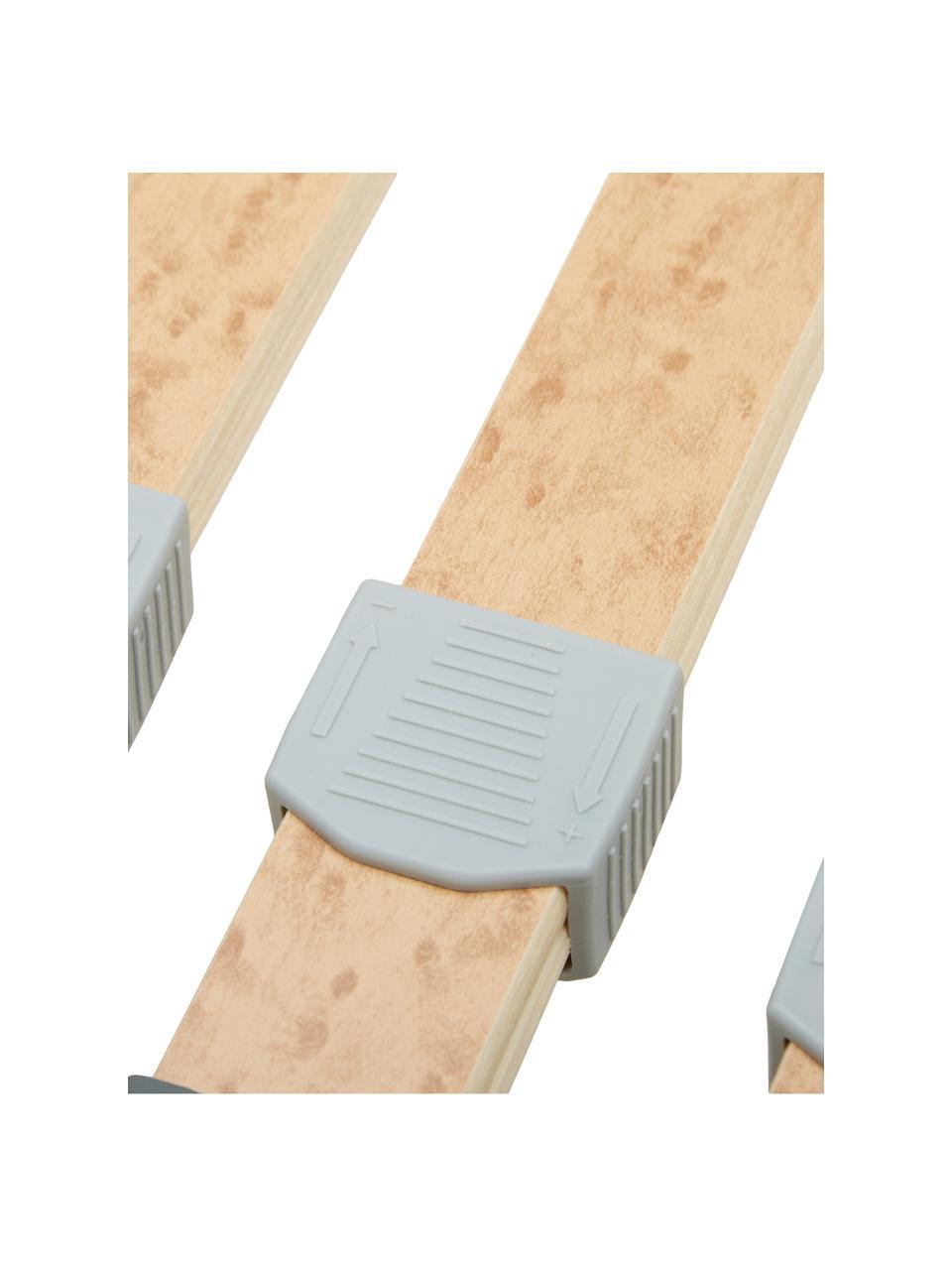 Telaio  a doghe Comfort Plus, Struttura: compensato, metallo, Cinturino centrale: fibra sintetica, Cappucci: materiale sintetico, Marrone chiaro, 80 x 200 cm