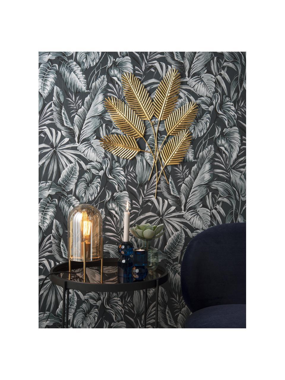 Wandobjekt Beech Leaves, Metall, beschichtet, Messingfarben, 48 x 62 cm