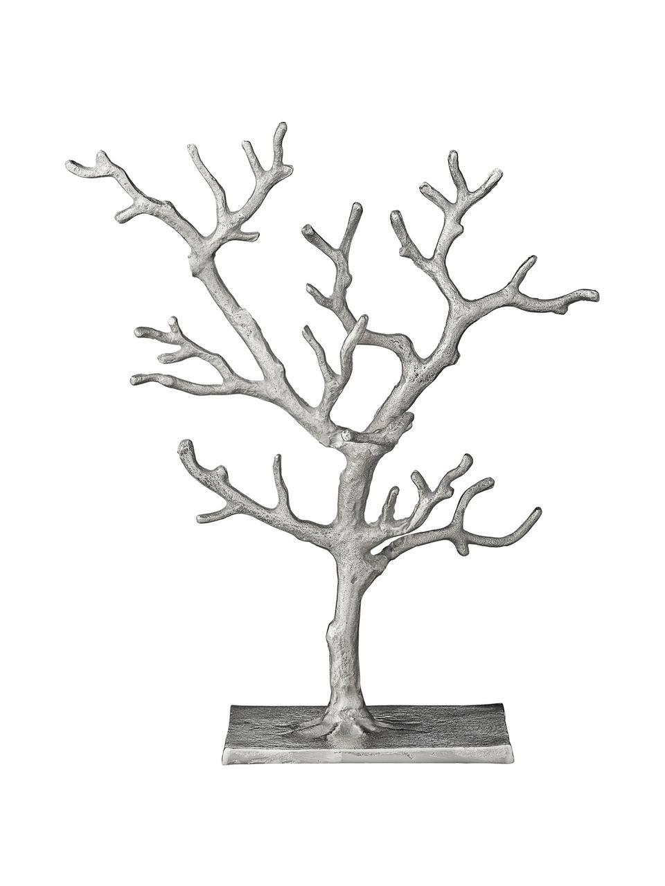 Ręcznie wykonany stojak na biżuterię Tressa, Aluminium powlekane, Odcienie srebrnego, S 28 x W 33 cm