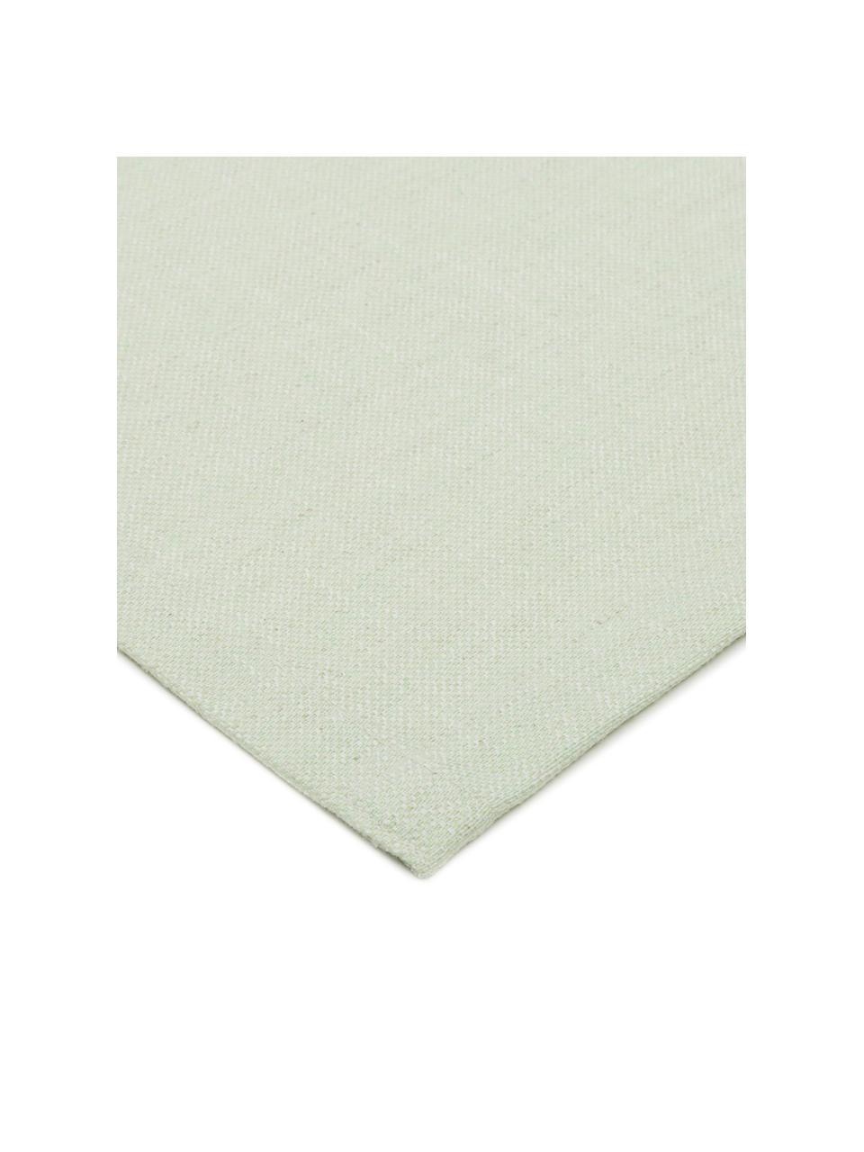 Tischläufer Riva aus Baumwollgemisch in Pastellgrün, 55%Baumwolle, 45%Polyester, Pastellgrün, 40 x 150 cm