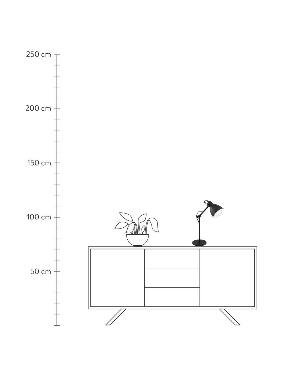 Lámpara de escritorio Ethan, estio industrial, Pantalla: metal con pintura en polv, Cable: plástico, Negro, Ø 15 x Al 43 cm