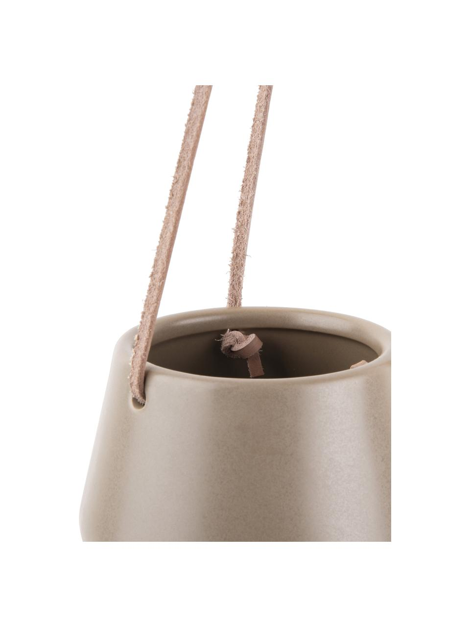 Hängender Übertopf Skittle aus Keramik, Keramik, Grau, Ø 12 x H 10 cm