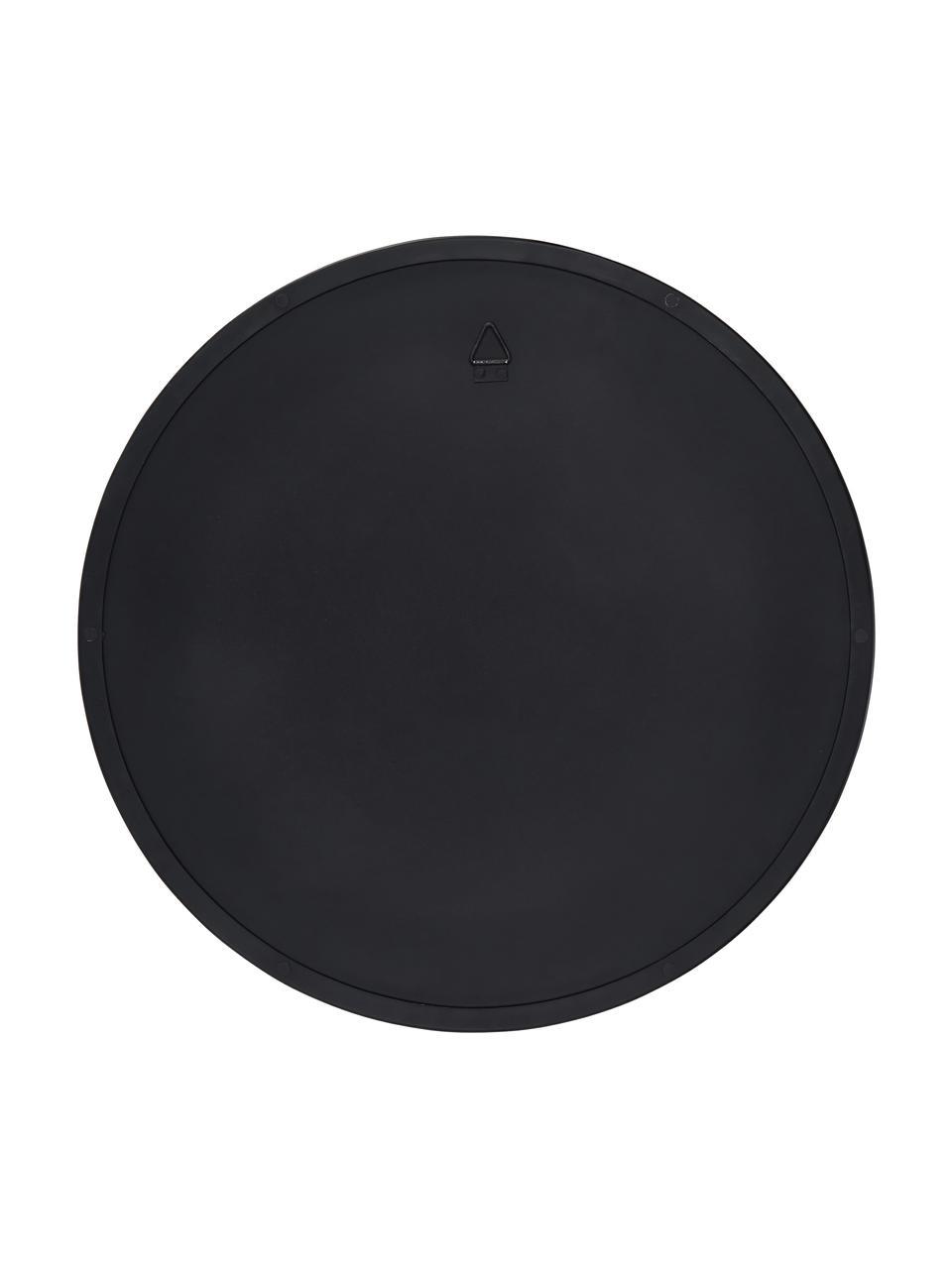 Ronde wandspiegel Ivy met zwarte lijst, Lijst: gepoedercoat metaal, Zwart, Ø 100 cm
