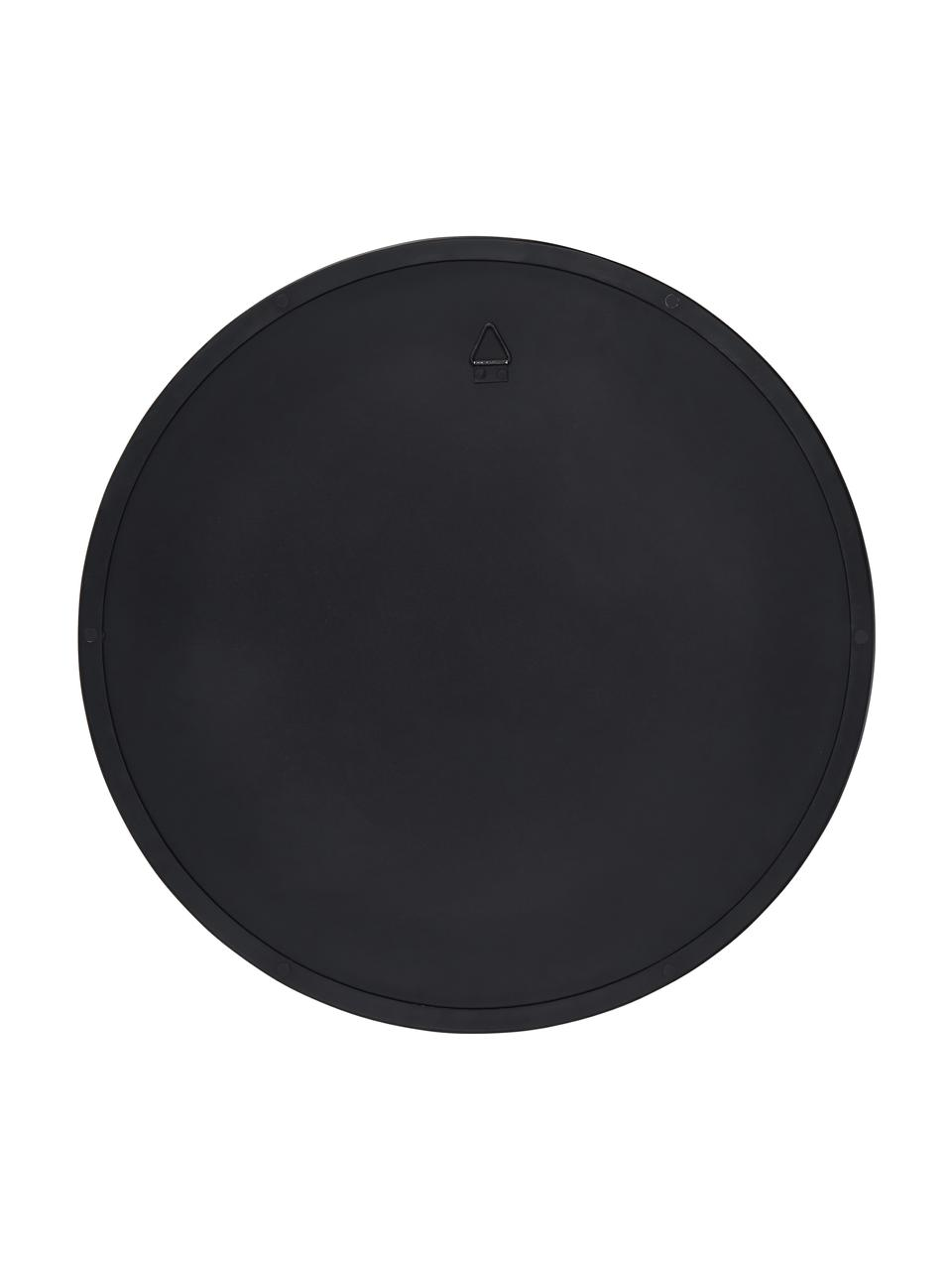Runder Wandspiegel Ivy mit schwarzem Rahmen, Rahmen: Metall, pulverbeschichtet, Spiegelfläche: Spiegelglas, Rückseite: Mitteldichte Holzfaserpla, Schwarz, Ø 40 cm