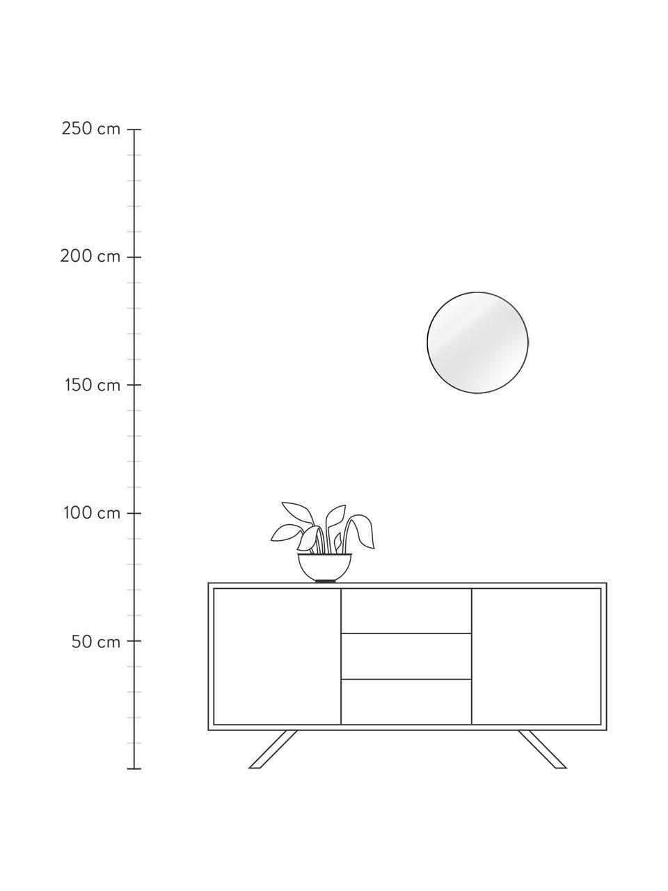 Specchio rotondo da parete con cornice nera Ivy, Cornice: metallo verniciato a polv, Superficie dello specchio: vetro a specchio, Retro: pannello di fibra a media, Nero, Ø 40 cm