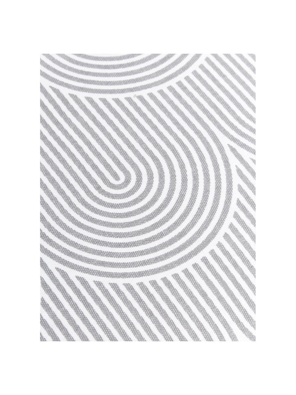 Hohes Sitzkissen Arc in Hellgrau/Weiß, Bezug: 100% Baumwolle, Grau, 40 x 40 cm