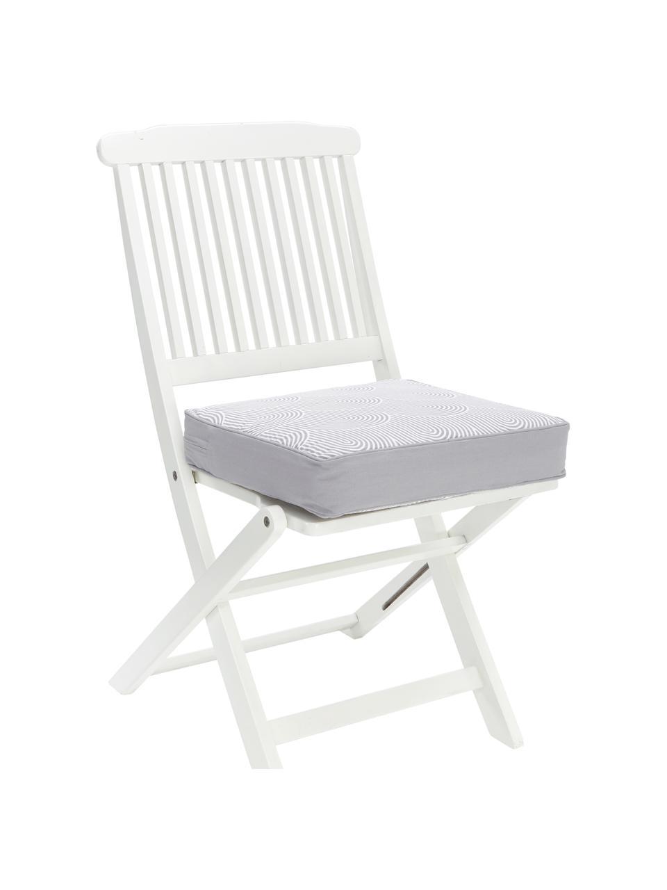 Wysoka poduszka na krzesło Arc, Szary, S 40 x D 40 cm