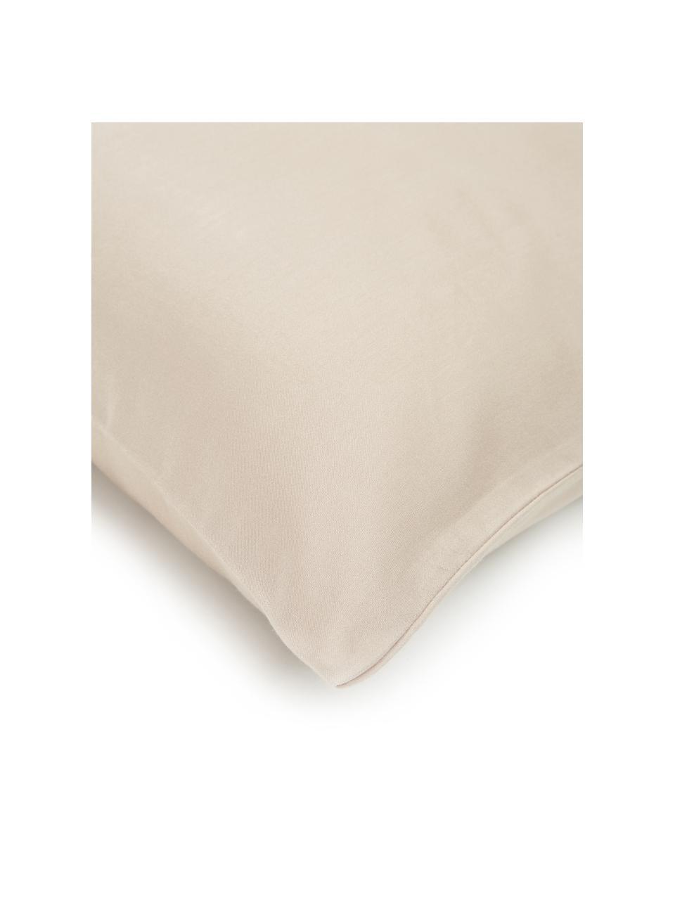 Baumwollsatin-Kopfkissenbezüge Comfort in Taupe, 2 Stück, Webart: Satin Fadendichte 250 TC,, Taupe, 40 x 80 cm