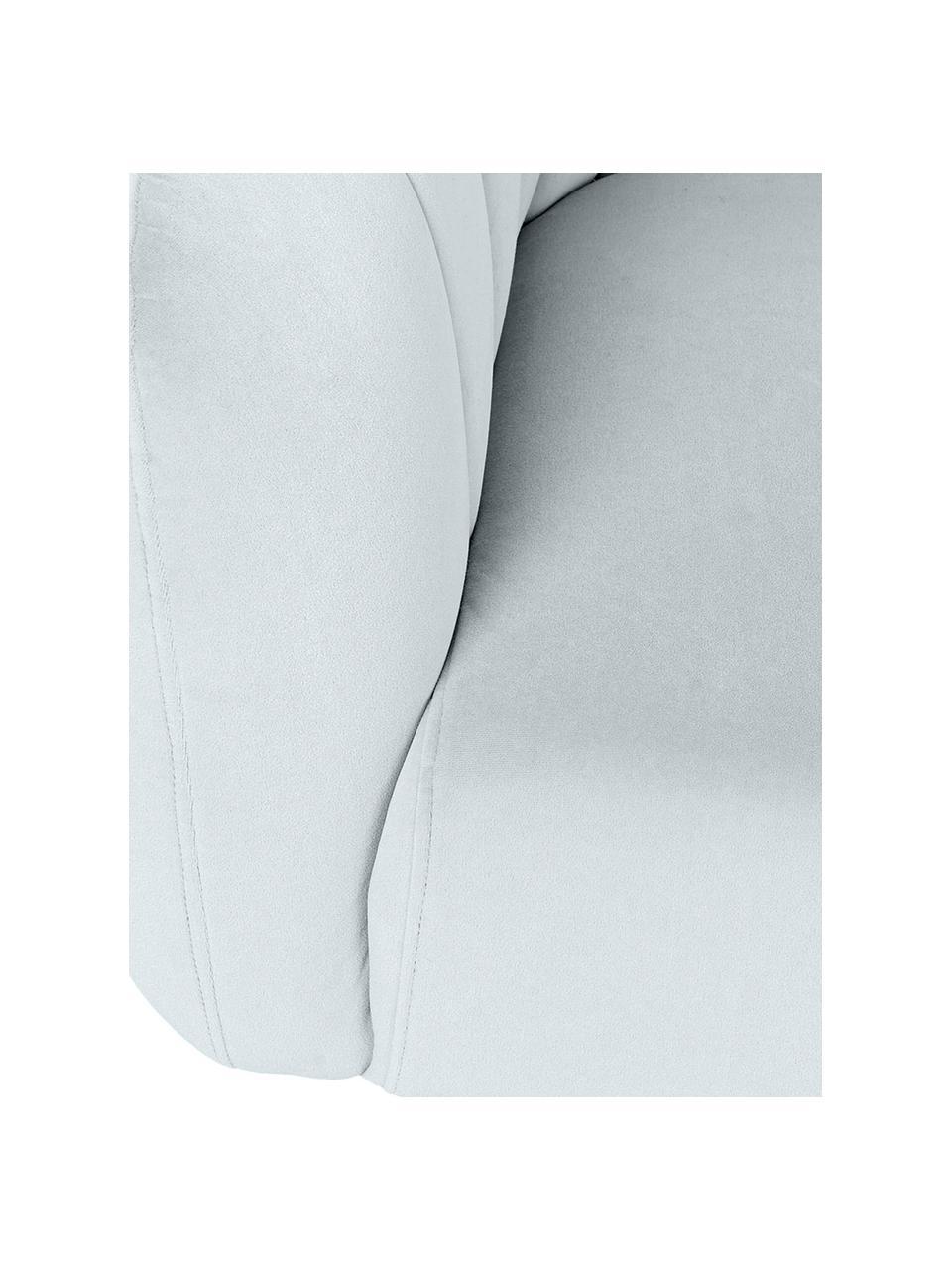 Sofa z aksamitu Ara (2-osobowa), Tapicerka: 100% aksamit poliestrowy, Nogi: metal powlekany, Niebieski, S 129 x G 73 cm