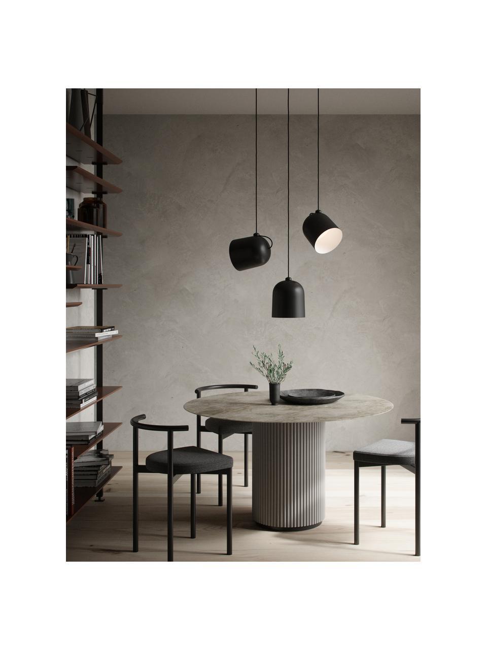 Lampa wisząca w stylu industrial Angle, Czarny, Ø 21 x W 32 cm