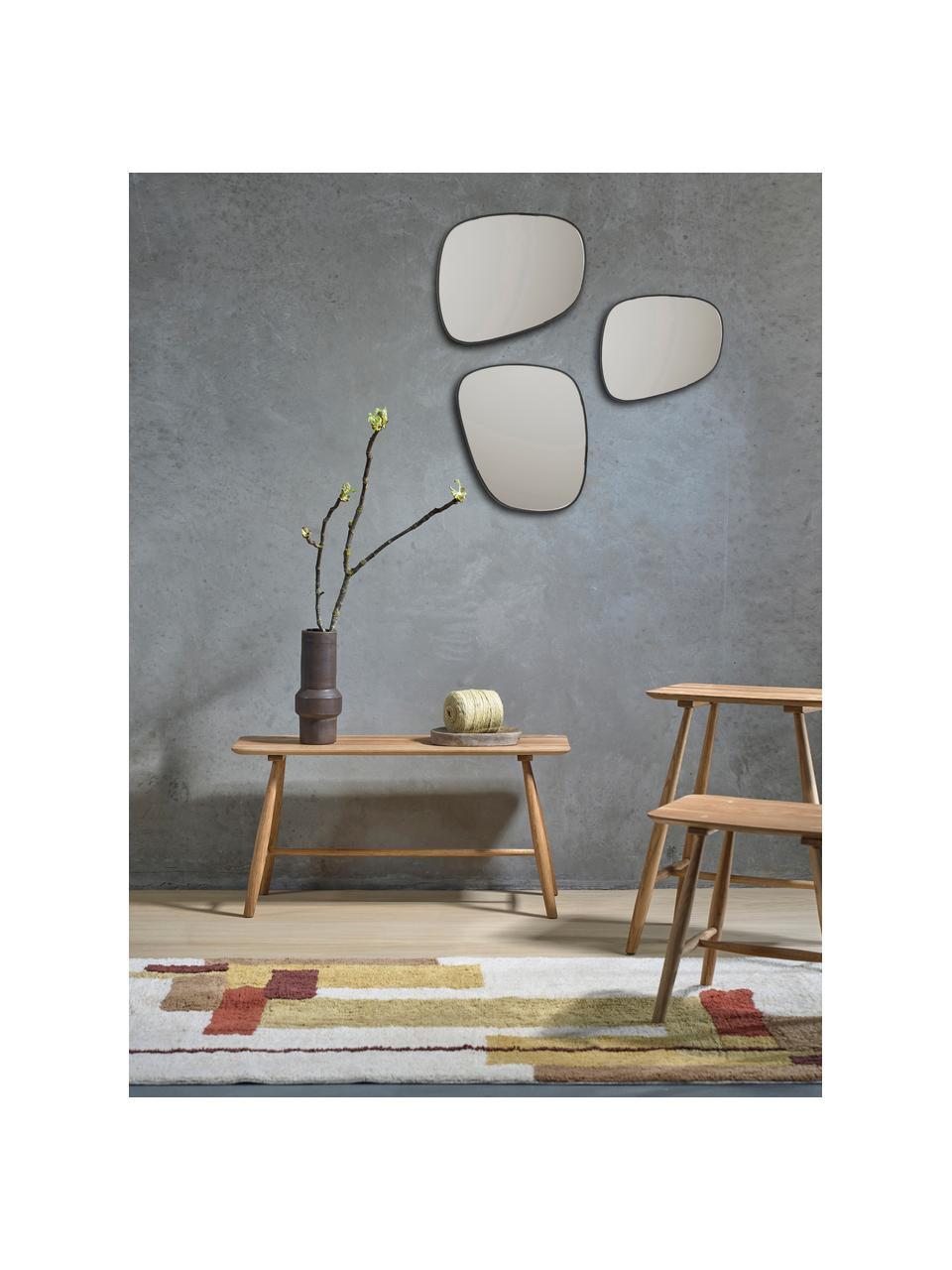 Moderner Wandspiegel Tony mit Metallrahmen, Rahmen: Metall, beschichtet, Spiegelfläche: Spiegelglas, Schwarz, 40 x 33 cm