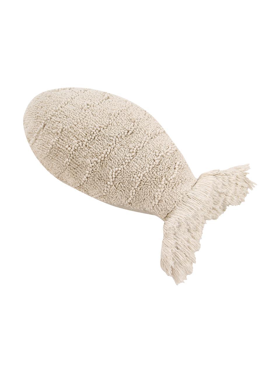 Kissen Baby Fish, mit Inlett, Bezug: 97% Baumwolle, 3% recycel, Beige, 30 x 60 cm