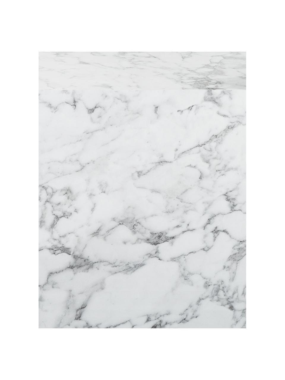Beistelltisch Lesley in Marmoroptik, Mitteldichte Holzfaserplatte (MDF), mit Melaminfolie überzogen, Weiß, Marmor-Optik, 45 x 50 cm