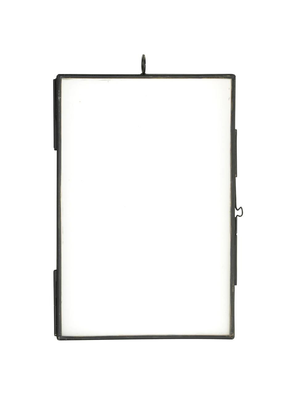 Ramka na zdjęcia Key, Szkło, metal powlekany, Czarny, 10 x 15 cm