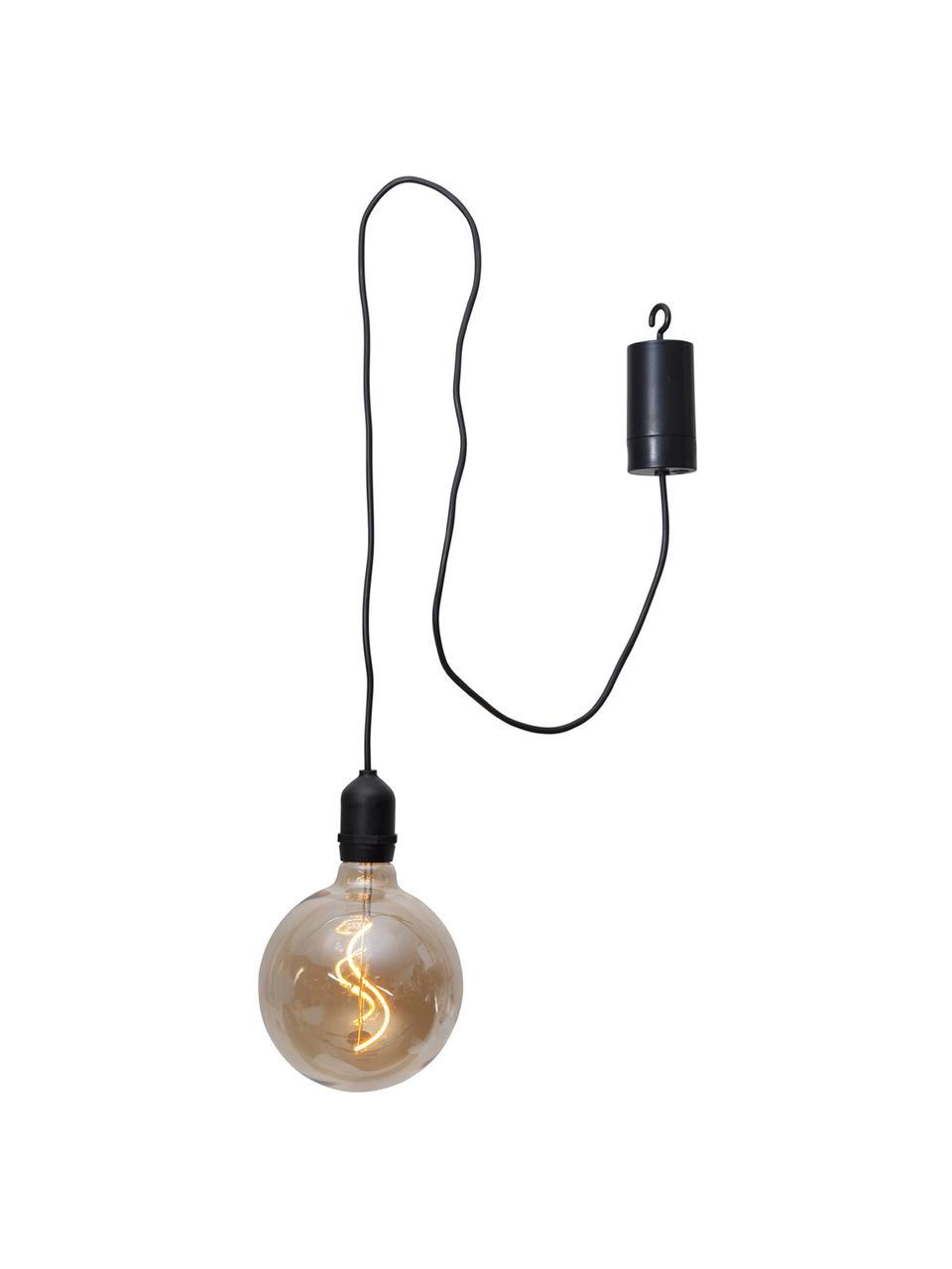 Mobile Hängelampe Bowl mit Timer, Lampenschirm: Glas, Bernsteinfarben, transparent, Schwarz, Ø 13 x H 18 cm
