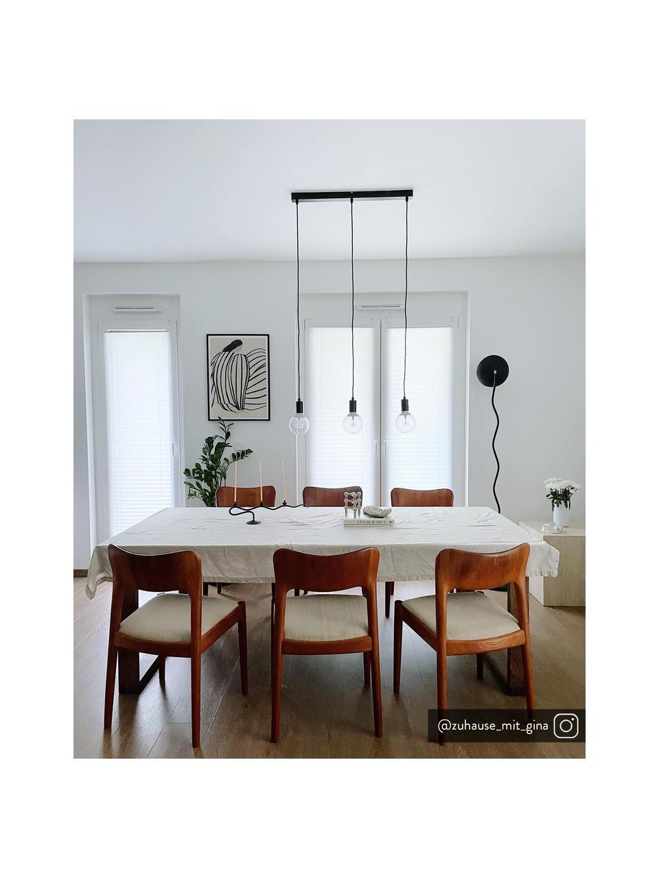 Lampada a sospensione nera Sky, Baldacchino: metallo verniciato, Nero, Larg. 68 x Alt. 145 cm