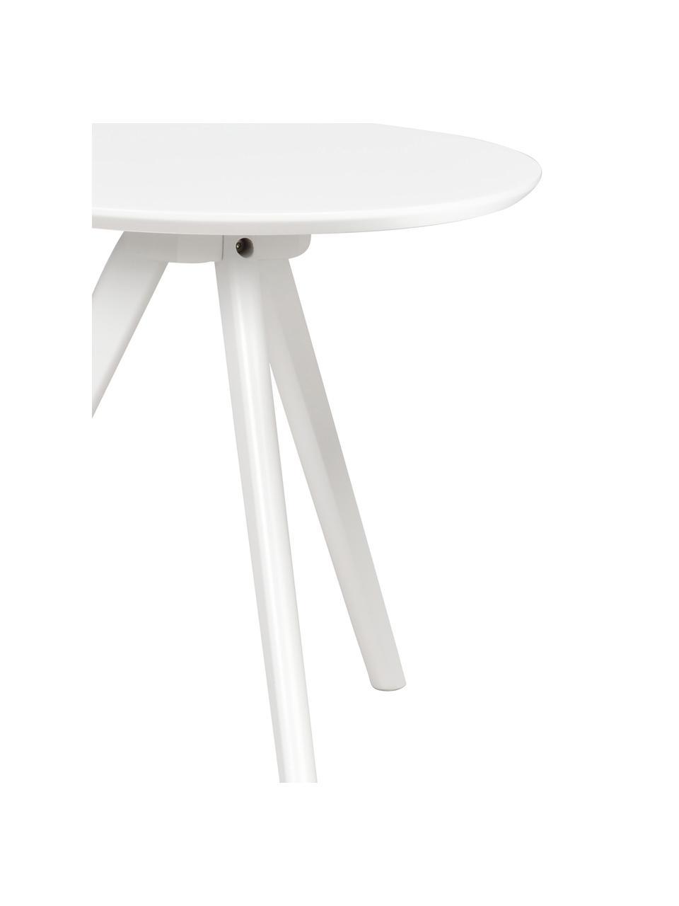 Set 2 tavolini Yumi, Gambe: legno massiccio di albero, Bianco, Set in varie misure
