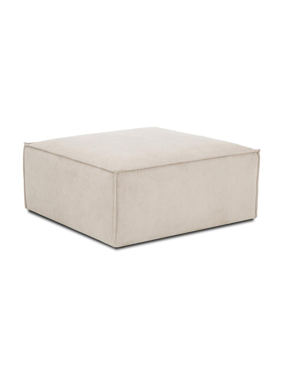 Sofa-Hocker Lennon in Beige aus Cord, Bezug: Cord (92% Polyester, 8% P, Gestell: Massives Kiefernholz, Spe, Füße: Kunststoff Die Füße befin, Cord Beige, 88 x 43 cm
