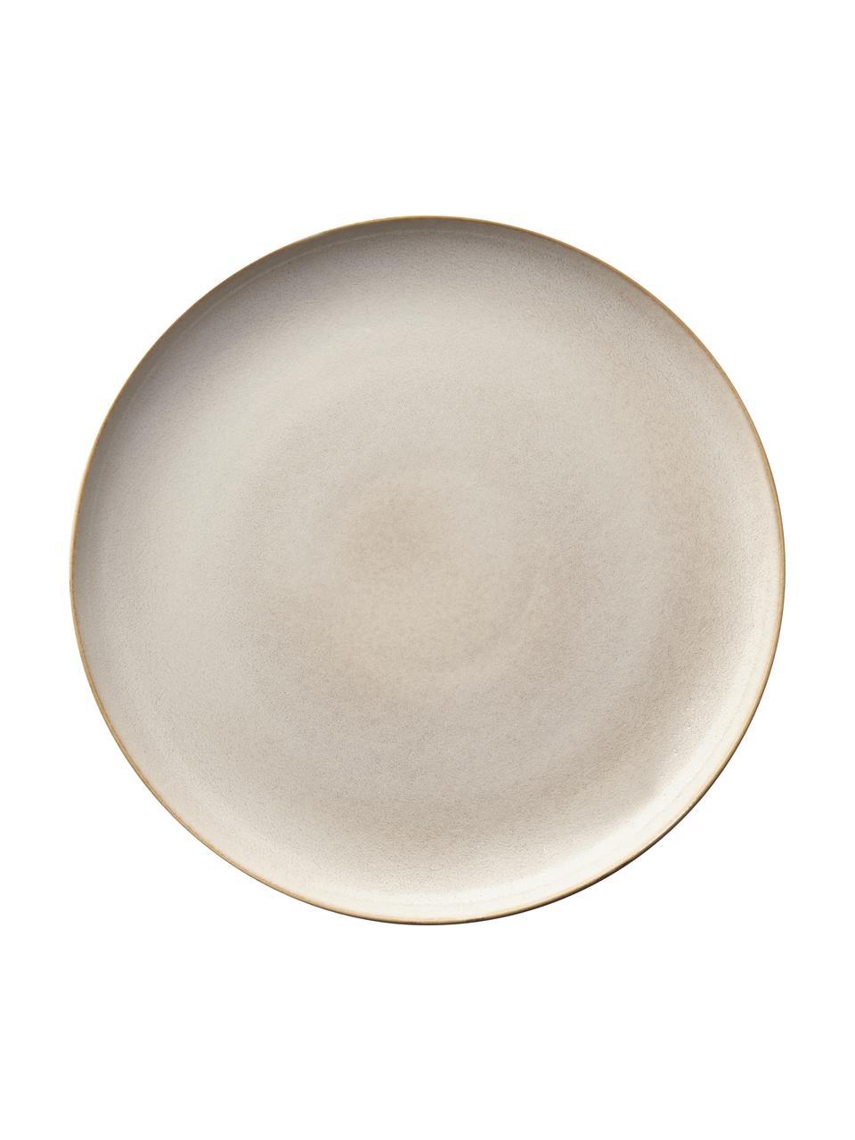 Talerz duży z kamionki Saisons, 6 szt., Kamionka, Beżowy, Ø 27 cm