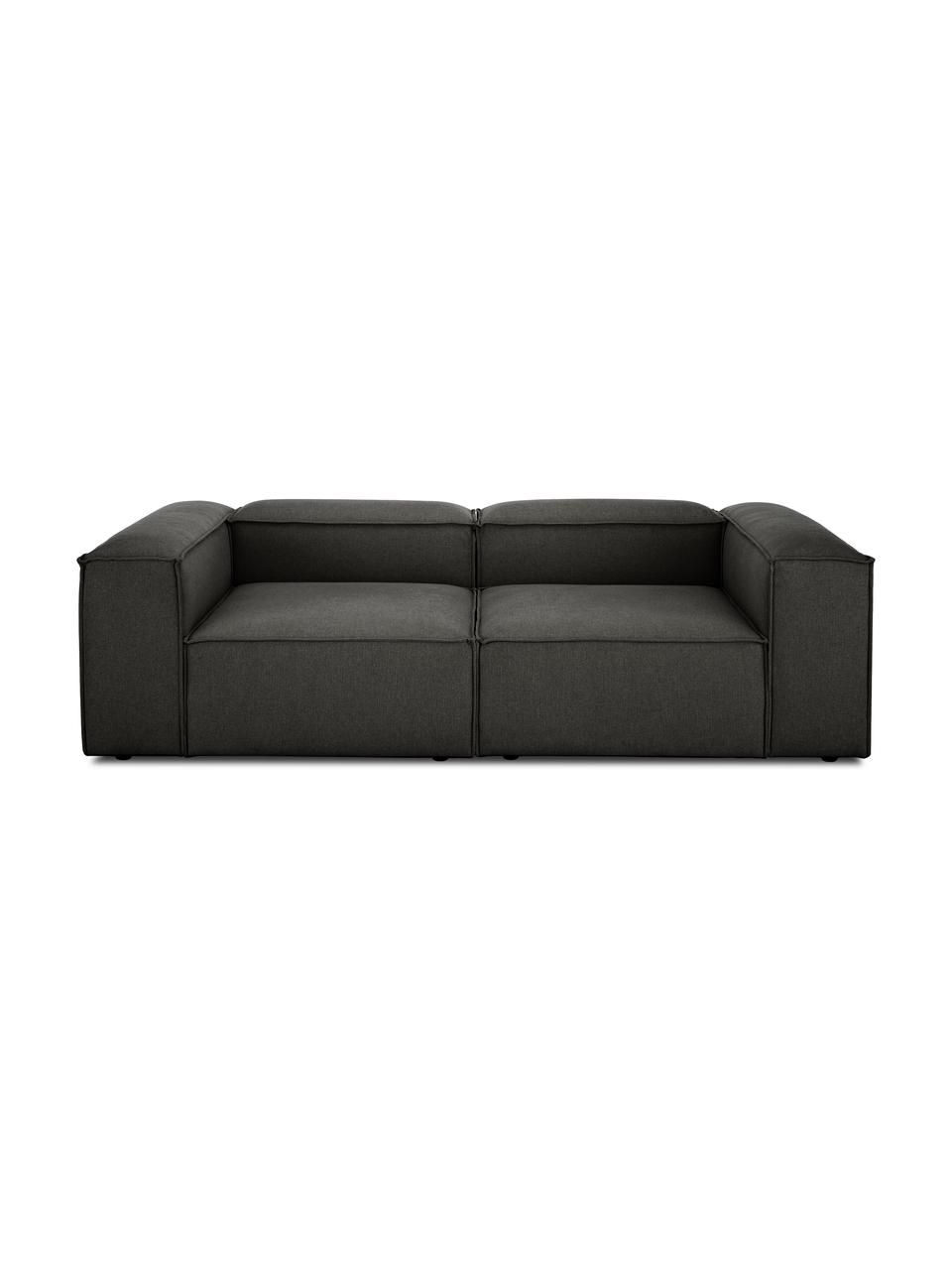 Modulares Sofa Lennon (3-Sitzer) in Anthrazit, Bezug: Polyester Der hochwertige, Gestell: Massives Kiefernholz, Spe, Webstoff Anthrazit, B 238 x T 119 cm