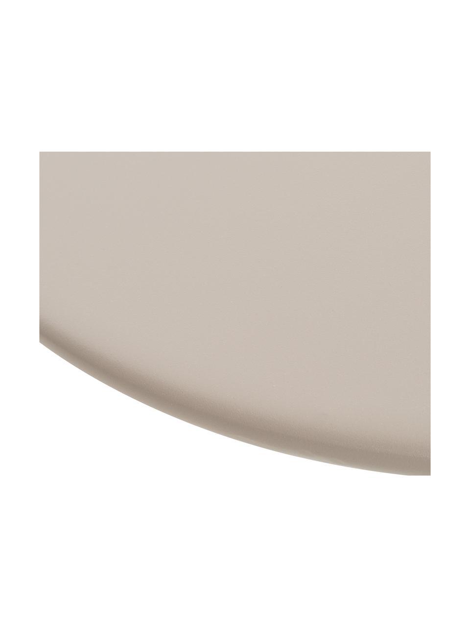 Tuintafel Sunderland, Staal, gegalvaniseerd verzinkt, poedercoating, Taupe, Ø 65 x H 40 cm