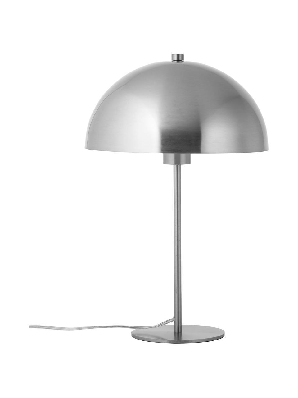 Tischlampe Matilda aus Metall, Lampenschirm: Metall, vernickelt, Lampenfuß: Metall, vernickelt, Nickel, Ø 29 x H 45 cm