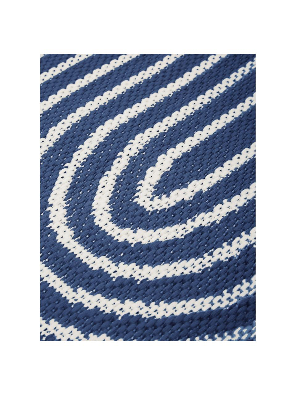 In- & Outdoorteppich Arches in Blau/Weiß, 86% Polypropylen, 14% Polyester, Blau, Weiß, B 200 x L 290 cm (Größe L)