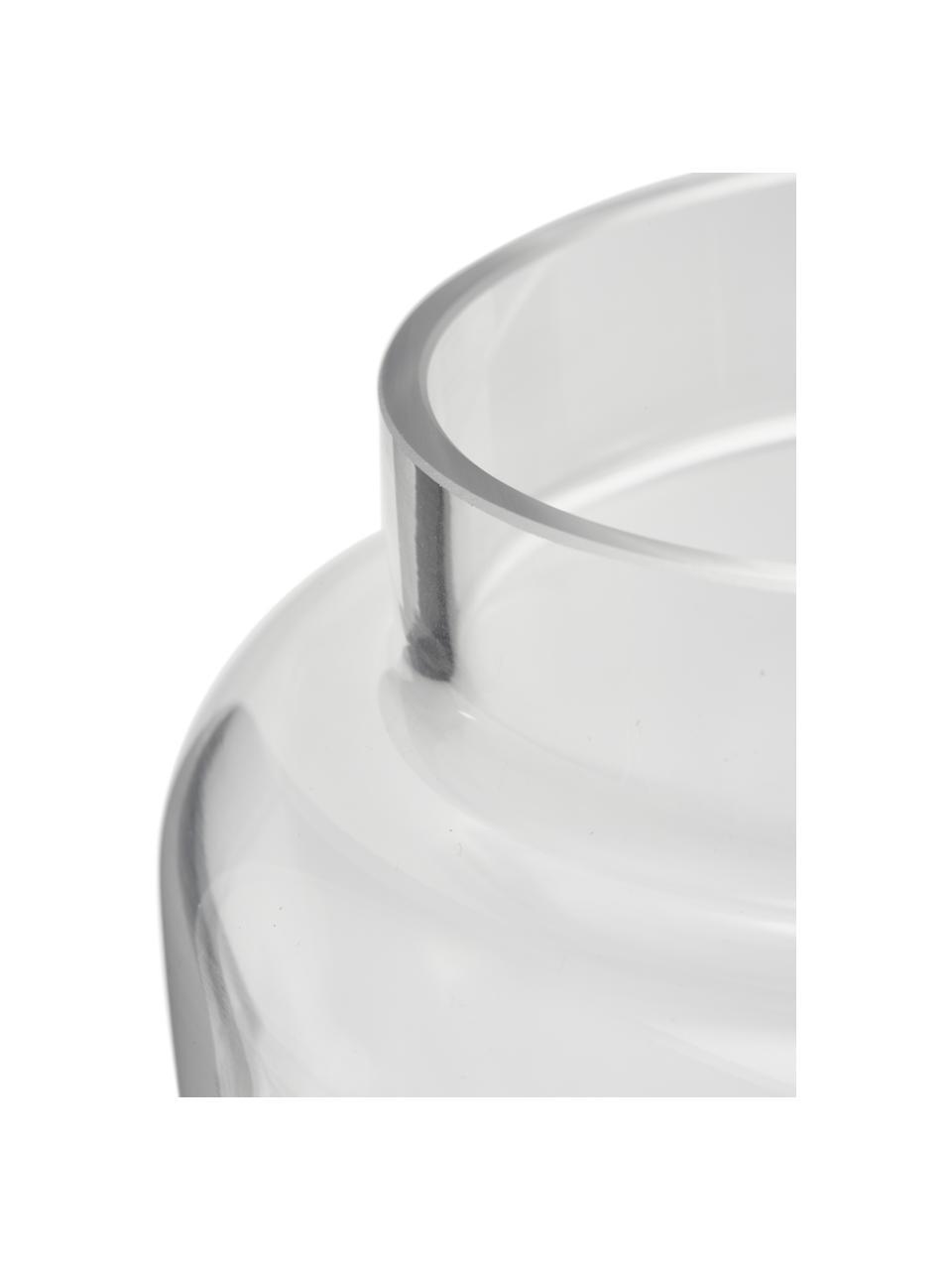 Średni wazon ze szkła Lasse, Szkło, Transparentny, Ø 16 x W 14 cm