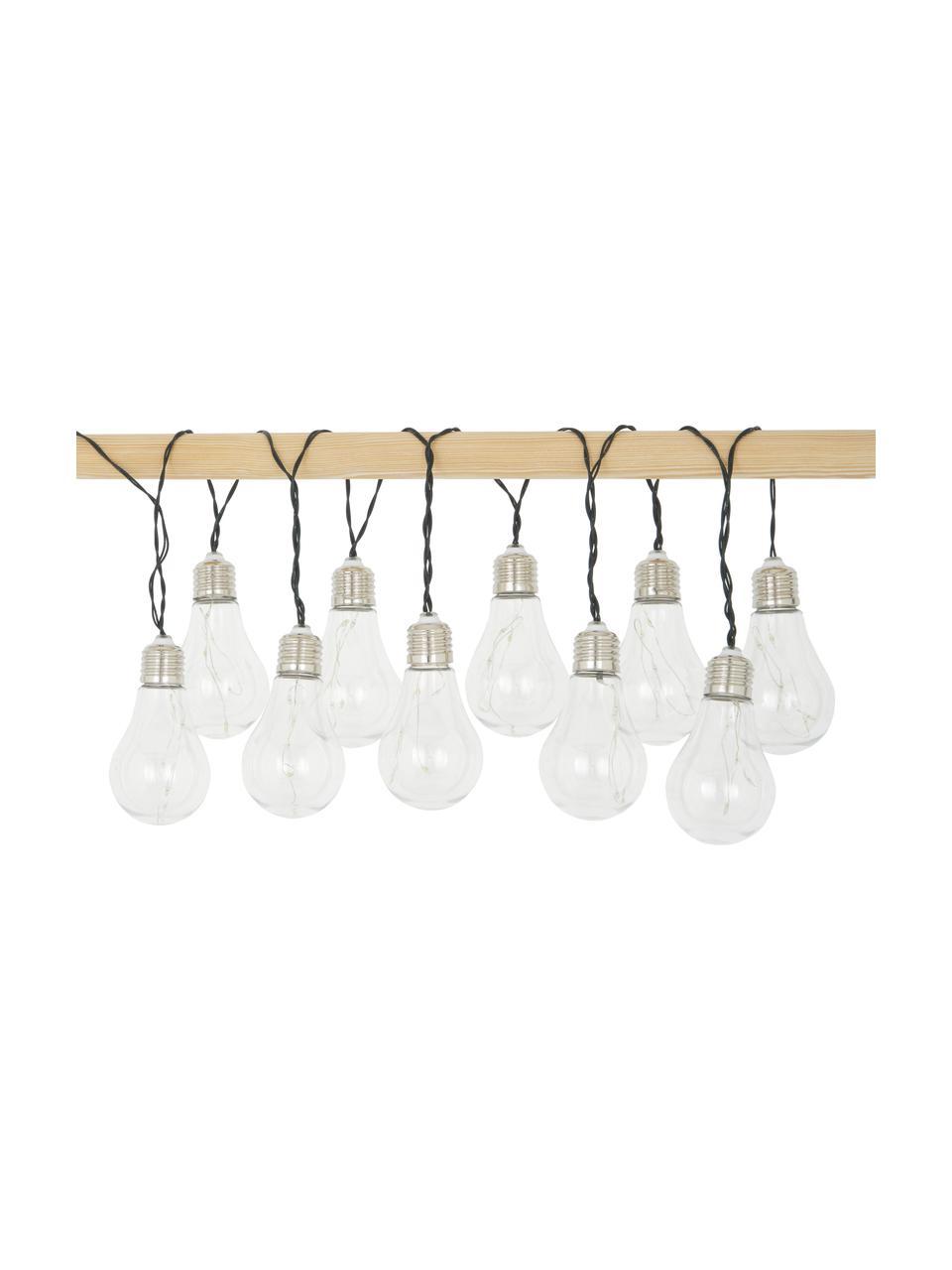 Solar Lichterkette Martin, 300 cm, 10 Lampions, Lampions: Kunststoff, Lampenschirme: Transparent mit Splitter-Effekt Lampenfassungen: Nickel, L 300 cm
