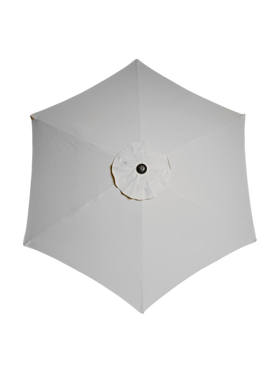 Sonnenschirm Siesta, Gestell: Metall, beschichtet, Hellgrau, Ø 180 cm
