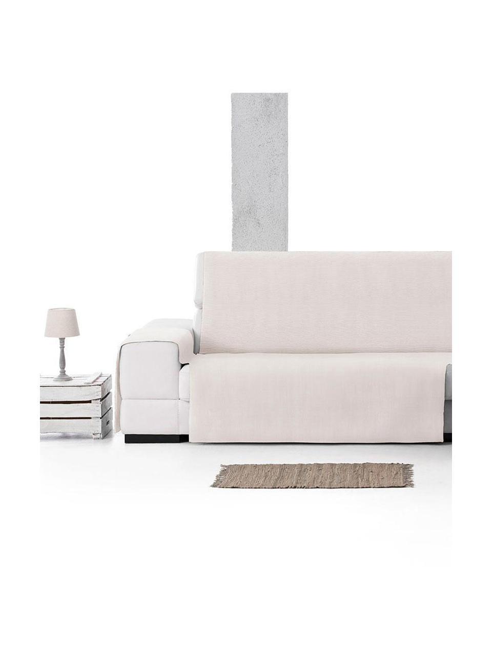 Copertura divano angolare Levante, 65% cotone, 35% poliestere, Color crema, Larg. 150 x Lung. 240 cm
