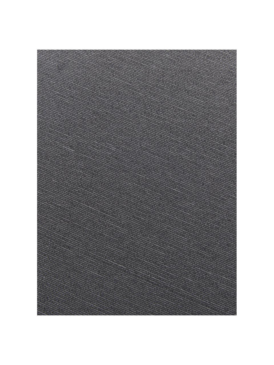 Einfarbige Bankauflage Panama in Anthrazit, Bezug: 50% Baumwolle, 45% Polyes, Anthrazit, 48 x 120 cm