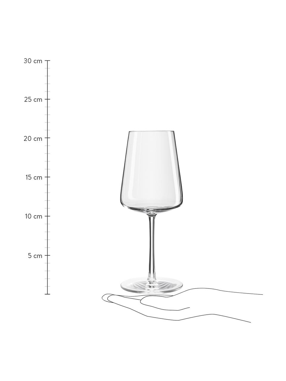 Kristall-Weißweingläser Power in Kegelform, 6 Stück, Kristallglas, Transparent, Ø 9 x H 21 cm