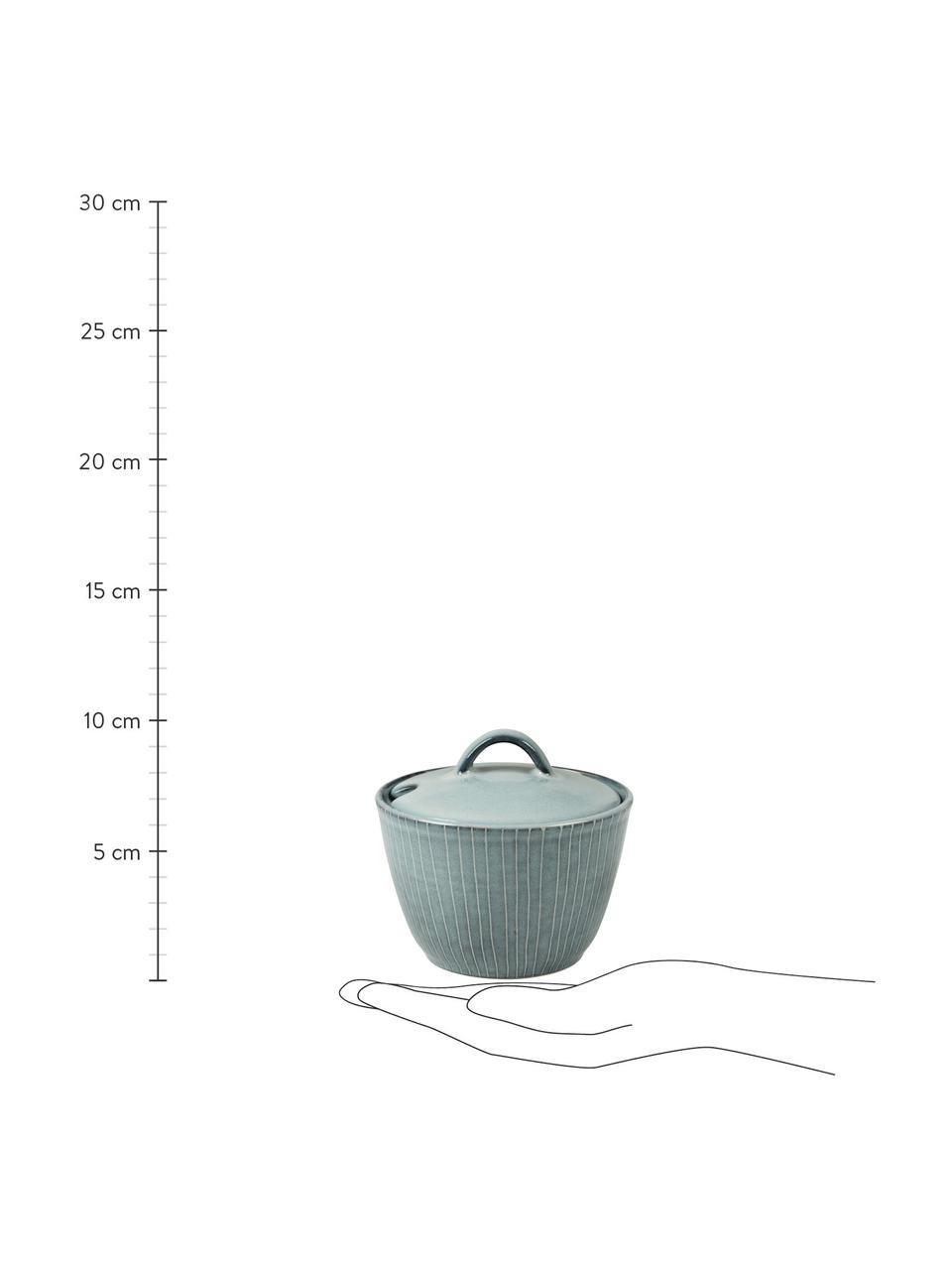 Sucrier fait à la main Nordic Sea, Tons gris et bleus