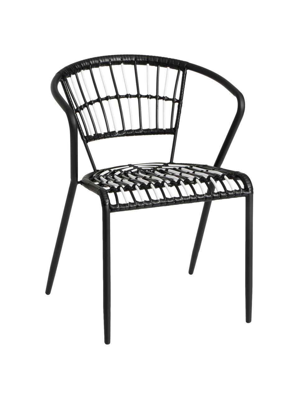 Krzesło ogrodowe Mati, Stelaż: metal lakierowany, Czarny, S 57 x G 57 cm