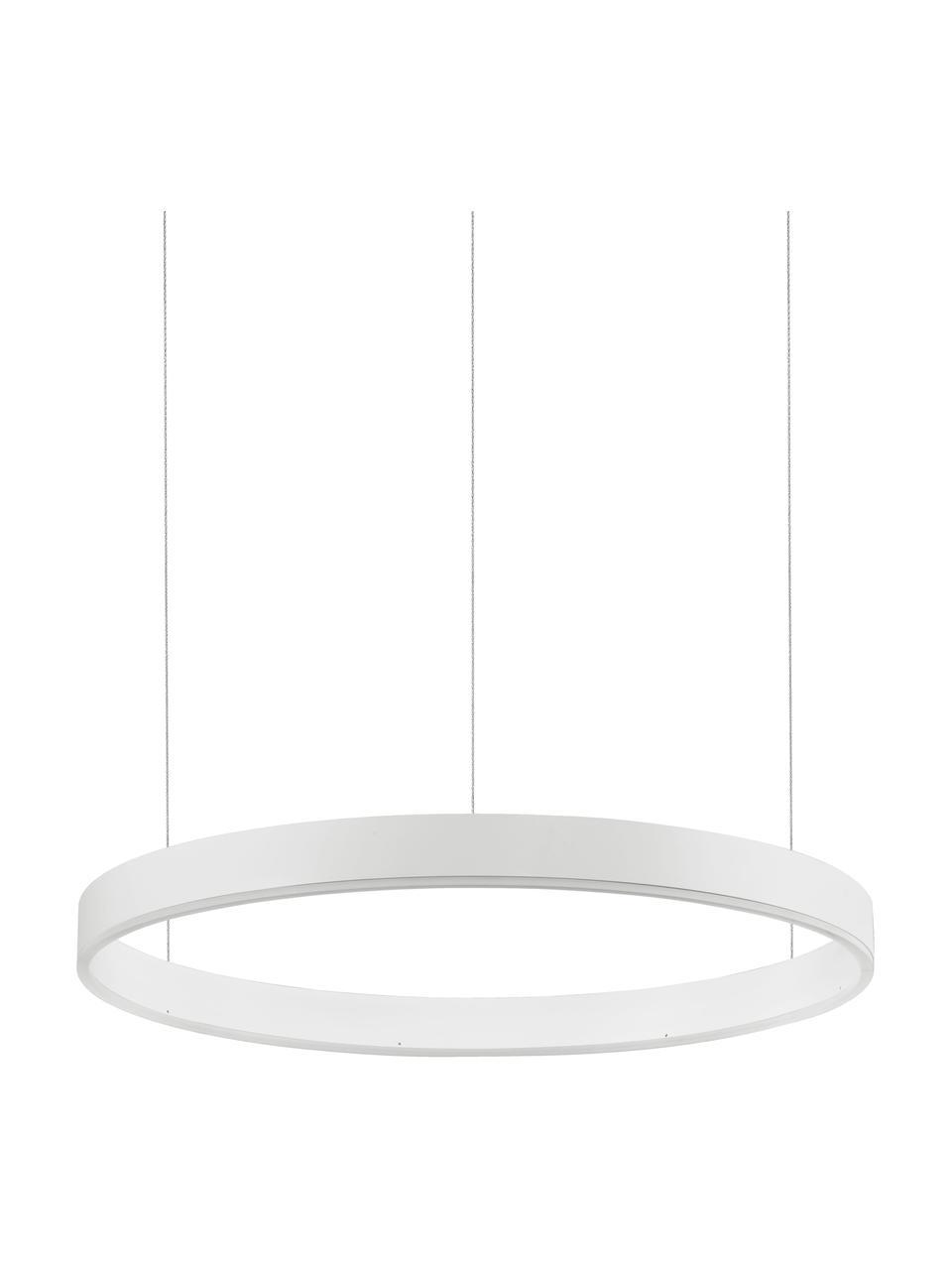 Lampada a sospensione a LED Motif, Paralume: alluminio rivestito, Baldacchino: alluminio rivestito, Bianco, Ø 60 x Alt. 190 cm