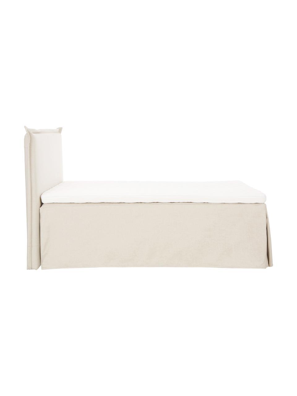 Lit à sommier tapissier Premium Violet, Tissu beige